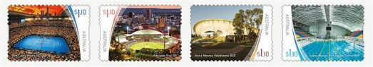 AUS 24/03/2020 Sports Stadiums (Series 2) self-adhesive set of 4 from roll